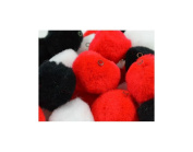 Trimits HP3A | Assorted Pom Poms with Holes | Toy Making | 25mm | 50 pack