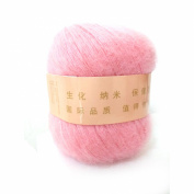 Celine lin One Skein Soft & Warm Angola Mohair Cashmere Wool Knitting Yarn 50g,Light pink