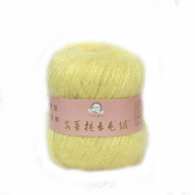 Celine lin One Skein Soft & Warm Angola Mohair Cashmere Wool Knitting Yarn 50g,Light yellow