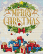 Christmas Greeting Cross Stitch Pattern