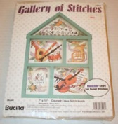 Bucilla Gallery of Stitches Counted Cross Stitch Hutch #33452, 18cm x 25cm with Frame