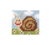 Orchidea ORC.9719 Zweigart Canvas Sammy Snail Beginner Tapestry Mini-Kit 11x23cm