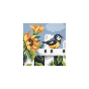 Orchidea ORC.9604 Summertime Blue tit Beginners Tapestry Mini-Kit 16½cm