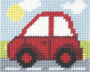 Orchidea ORC.9705 Little Red Car Beginners Tapestry Mini-Kit 16½cm