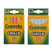 Crayola Chalk White & Coloured 12-Pack