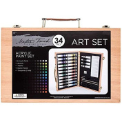 34-Piece Acrylic Paint SetNew by