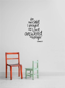 Design with Vinyl Gold A 1148 for This Child I Prayed And The Lord Answered My Prayer 1 Samuel Quote Home Living Room Bedroom Decor Wall Sticker Decal, 30cm x 70cm , Black