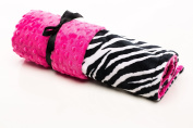 Elonka Nichole Baby Girl Receiving Blanket, Zebra Print and Hot Pink