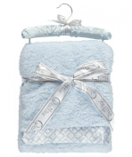"Quiltex ""Square Link Trim"" Plush Blanket - blue, one size"
