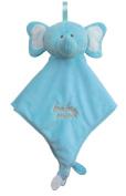 Baby Mink Elephant Lovey/Security Blanket - Blue