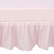 TillYou 100% Cotton Sateen Crib Skirt, Pink