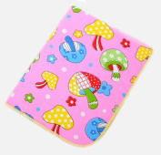 BABYBOO Baby Cartoon Changing Pads Mats Breathable Kids Urine Covers Packing of 1,Pink Mushroom