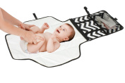 ReperKid Nappy Changing Station for Babies - Foldable Changing Mat with Detachable Changing-Pad - Waterproof, Multiple Storage Options - Compact & Portable - Excellent Padding for Comfort