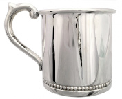 Cunill 90ml Beaded Baby Cup, 5.4cm , Sterling Silver