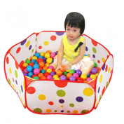 Funny Pop up Hexagon Polka Dot Kids Toddlers Ball Play Pool Tent Carry Tote Toys by FEITONG
