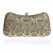 Alizeebridal Women's Minaudiere Hardcase Clutch Evening Bag with Chain
