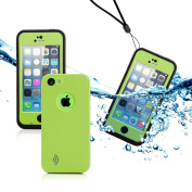 GEARONIC TM Newest Durable Waterproof Shockproof Dirt Snow Proof Case Cover for iPhone 5C - Green