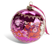 Limited Edition Vera Bradley Christmas Ornament in Rosewood