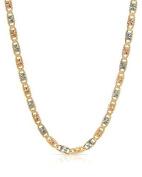 MCS Jewellery 14 Karat Three Tone Yellow Gold/White Gold/Rose Gold Necklace