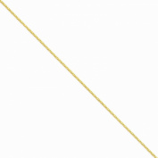 14k Yellow Gold 1.5mm Franco Chain Necklace 30 Inch