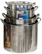 ToolUSA 4 Piece Set Of Stainless Steel Stockpots 8-18.9l Sizes