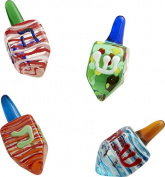 LS Arts Hanukkah Dreidel Gift Box (Set of 4), Multicolor