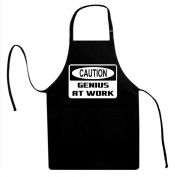 Signature Depot Caution Genius at work Funny Unisex Adult Novelty Apron