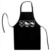 Signature Depot Eat Sleep Game (Gaming) Funny Unisex Adult Novelty Apron