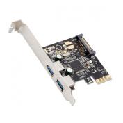 IO Crest 2 Port USB 3.0 PCIe 2.0 x 1 Card Components SD-PEX20158