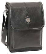 Jill-e 25cm Metro Tablet Bag (Black with Silver Trim)