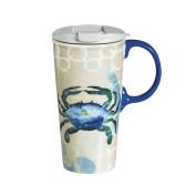Cypress Home By the Sea Ceramic Travel Coffee Mug, 500mls