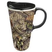 Cypress Home Mossy Oak Country Ceramic Travel Coffee Mug, 500mls