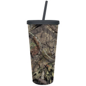 Cypress Home Mossy Oak Country XL Insulated Tumbler with Straw, 590mls