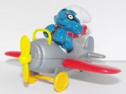 Brainy Smurf Flying an Aeroplane Figure Toy