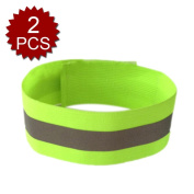 GOGO High Visibility Wristband For Running, Reflective Ankle Bands, 2 Pcs
