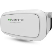 SainSonic VR SHIECON Virtual Reality Headset 3D VR Glasses for Android & Apple Smartphones within 15cm , ideal for 3d Videos Movies Games