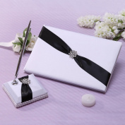 KateMelon Wedding Accessories Shimmering Guest Book with Pen Set