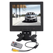 cocopar®20cm Car Rearview Backup Camera Monitor DVD VCR TFT LCD Screen Display High Resolution 1024*768 IPS with HDMI VGA AV Input, Remote and Stand for Raspberry pi 2 Model B Raspberry pi B+ B