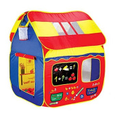 Zewik Large Space Play Tent Children Game Two-Door House Basketball Shot Sums Open Roof for Indoor and Outdoor