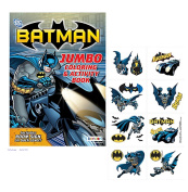 "Super Hero Inspired ""Batman"" Jumbo Colouring Activity Book Plus Bonus Batman Temporary Tattoos!"