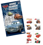 Disney Pixar Cars Word Search Puzzles Activity Book Plus Bonus Cars Temporary Tattoos Featuring Lightning McQueen!