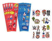 WWE Wrestlers Kids Temporary Party Favour Tattoos! Plus Bonus WWE 8ct Sticker Favours Sheets!