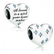 Pandora Charm Disney Cinderella's Dream with Light Blue Cubic Zirconia 791593cfl
