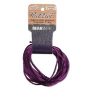 3mm Satin Rattail Braiding Cord Purple 6 Yards For Kumihimo and Craft