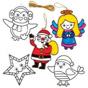 Christmas Wiggle-Eye Stained Glass Decorations for Children to Embellish and Hang