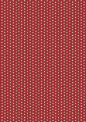 Pergamano Parchment Paper, 5 Sheets, Velvet Red Stars