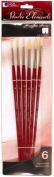 Loew-Cornell 1024940 Studio Elements Bristle Long Handle Round Small Brush Set
