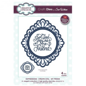 Sue Wilson Designs Dies - Expressions Collection Ornate Oval My Friend die