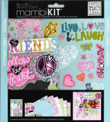 mambiKIT 20cm by 20cm Scrapbook Page Kit, Friends