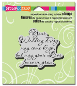 Stampendous Cling Your Wedding Rubber Stamp